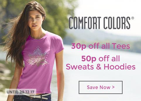10p off Comfort Colors Tees