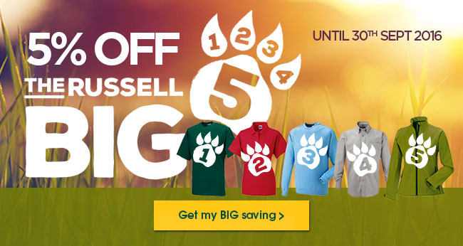 Save on the Russell Big 5