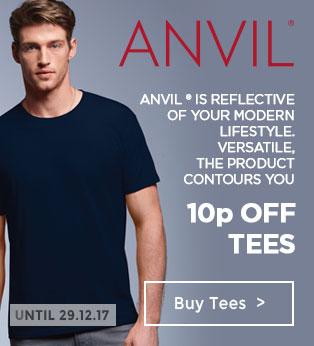10p Off Anvil Tees