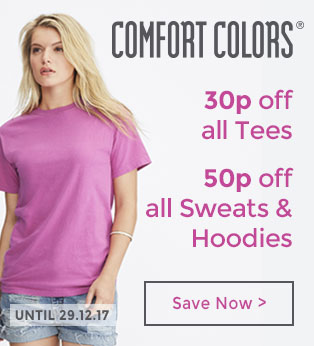 10p off Comfort Colors Tees