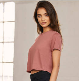View Bella+Canvas Womens Flowy Cropped Tee