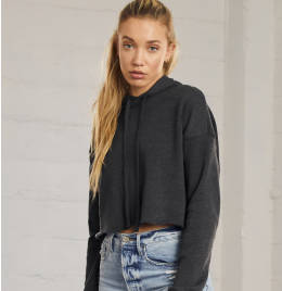 View Bella+Canvas Womens Cropped Fleece Hoody