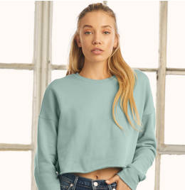 View Bella+Canvas Womens Cropped Crew Fleece