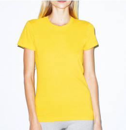 View American Apparel Womens Fine Jersey Tee