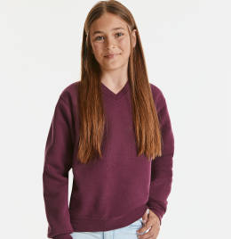 View Jerzees Schoolgear V-Neck Sweatshirt