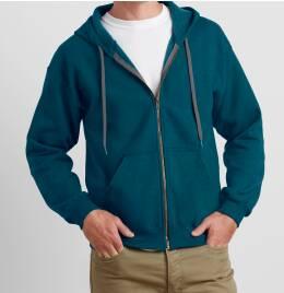 View Gildan Mens Vintage Full Zip Hood Sweat