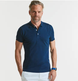 View Russell Mens Stretch Polo