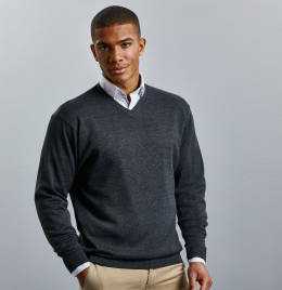View Russell Collection V-Neck Pullover