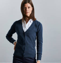 View Russell Collection Ladies V Cardigan