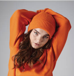 View Beechfield Engineered Knit Ribbed Beanie
