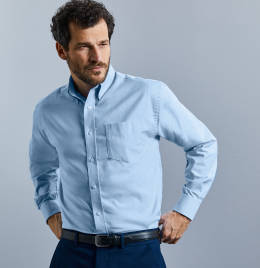 View Russell Collection L/S Oxford Shirt