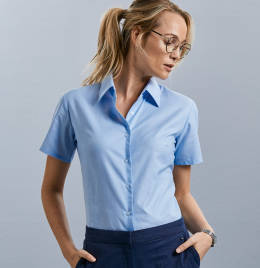 View Russell Collection Ladies Oxford Shirt