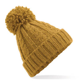 View Beechfield Cable Knit Melange Beanie
