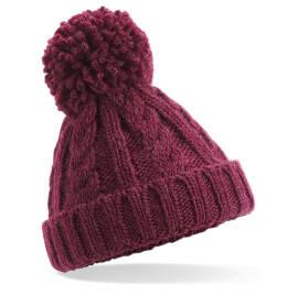 View Beechfield Infant Cble Knit Melang Beane