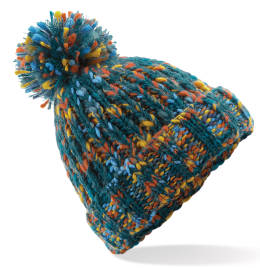 View Beechfield Twister Pop Pom Beanie