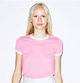 View American Apparel Womens Ringer Tshirt