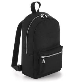 View Bagbase Metallic Zip Mini Backpack