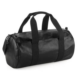 View Bagbase Faux Leather Barrel Bag