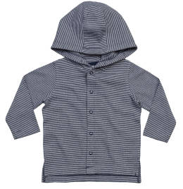 View Babybugz Baby Striped Hooded Tee