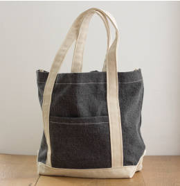 View Jassz Bags Canvas Denim Shopper