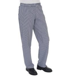 View Dennys Blue/White Chefs Trouser