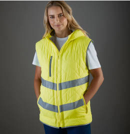 View Yoko Hi Vis Kensington Hooded Gilet