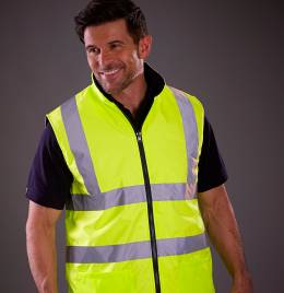 View Yoko Hi-Vis Reversible Fleece Vest