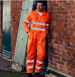 View Yoko Hi-Vis Polycotton Coverall