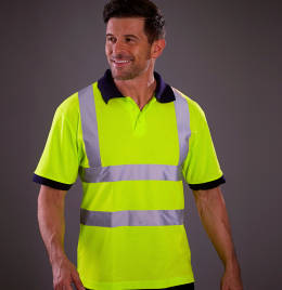 View Yoko Hi-Vis Short Sleeve Polo Shirt