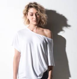 View Nakedshirt Kate Viscose/Cotton Boxy Tee