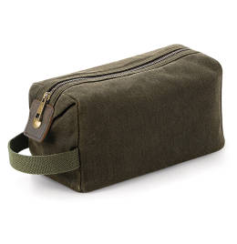 View Quadra Heritage Waxed Canvas Wash Bag