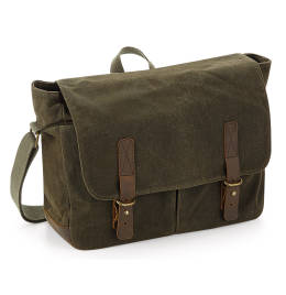 View Quadra Heritage Waxed Canvas Messenger