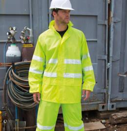 View Result Safeguard Hi Vis Waterproof Suit