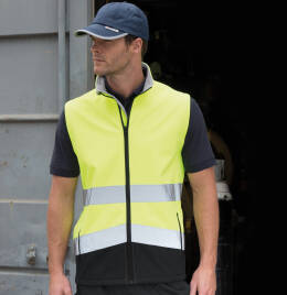 View Safeguard Safety Softshell Gilet