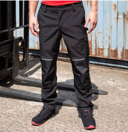 View Result Workguard Slim Softshell Trousers