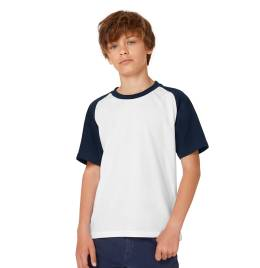 View B&C Kids S/Sleeve Baseball Tee
