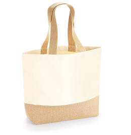 View Westford Mill Jute Base Canvas Tote