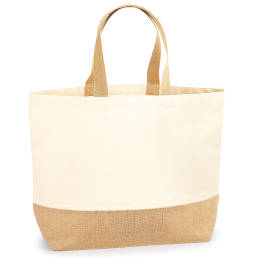 View Westford Mill Jute Base Canvas Tote XL