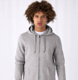 View B&C Mens King Zipped Hooded Sweat