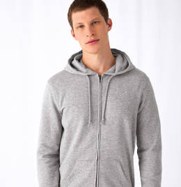 View B&C Mens Organic Zipped Hood