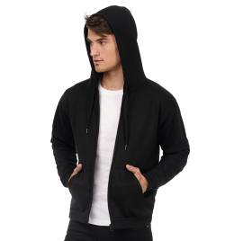View B&C ID205 50/50 Full Zip Hooded Sweat
