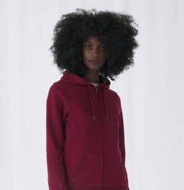 View B&C Womens Queen Zipped Hooded Sweat