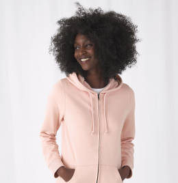View B&C Womens Organic Zipped Hood