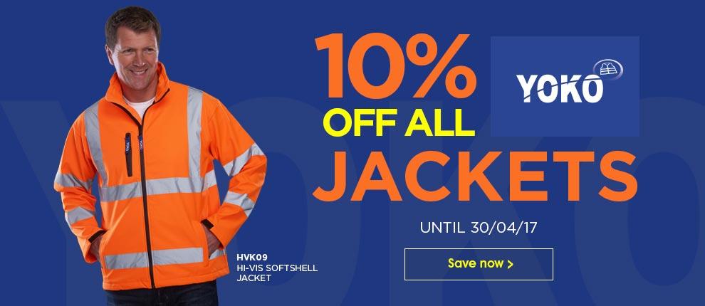 Save 10% on all Yoko Jackets