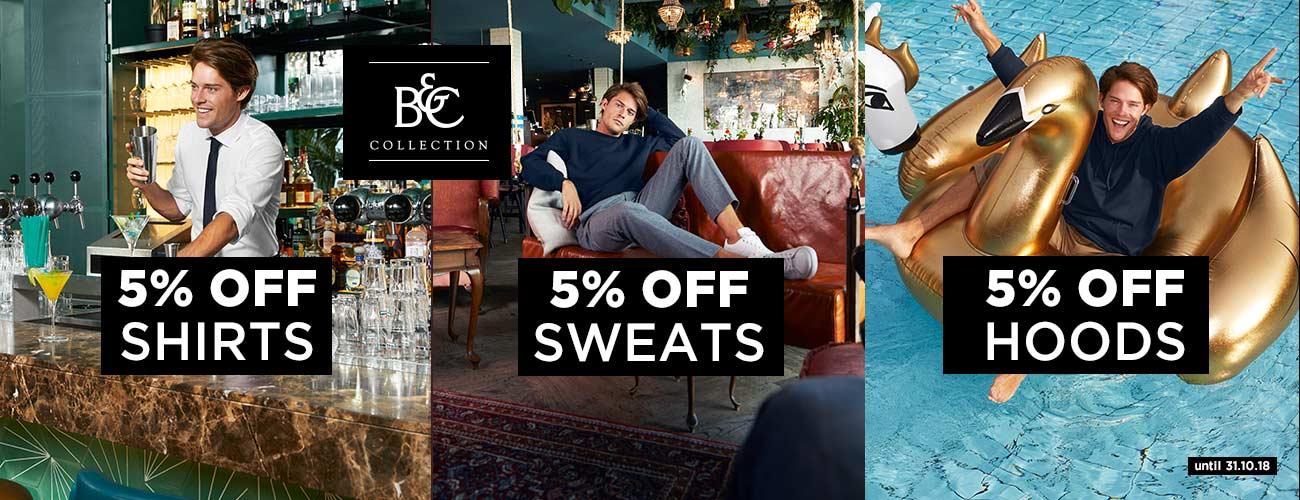 B&C ShirtSweatsHoods