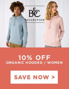 B&C Organic Hooded Sweat