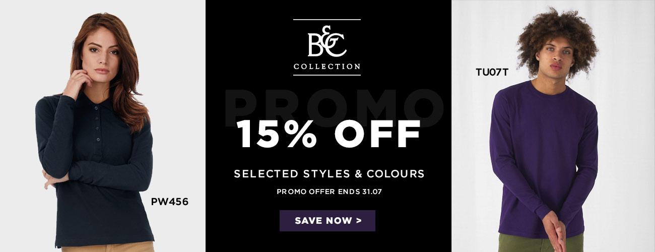 B&C 15% Off